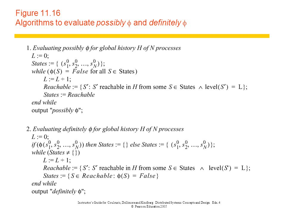 Figure 11.16 Algorithms to evaluate possibly f and definitely f