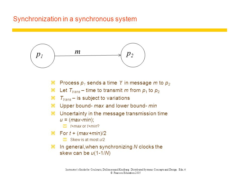 Synchronization in a synchronous system