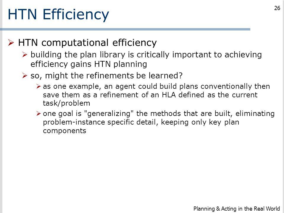 HTN Efficiency HTN computational efficiency