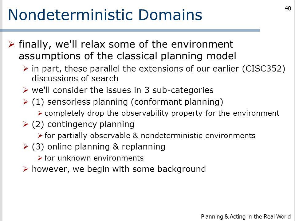 Nondeterministic Domains
