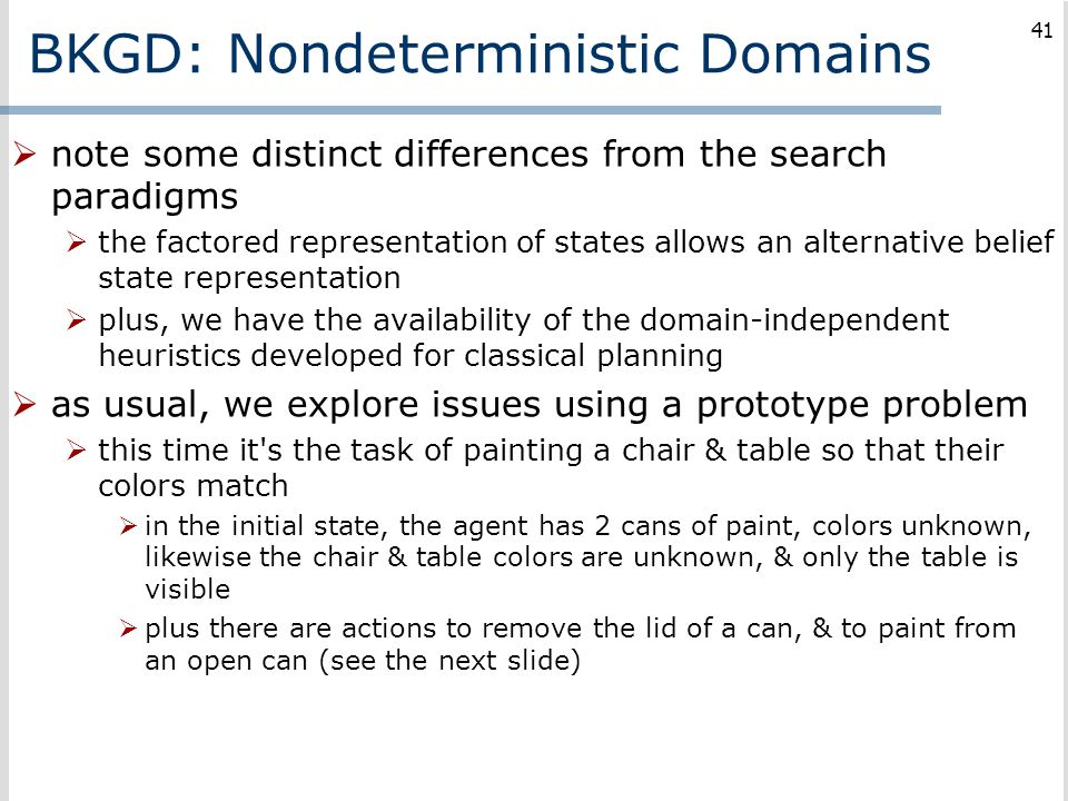 BKGD: Nondeterministic Domains