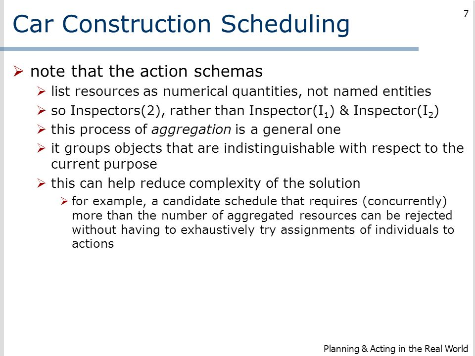 Car Construction Scheduling
