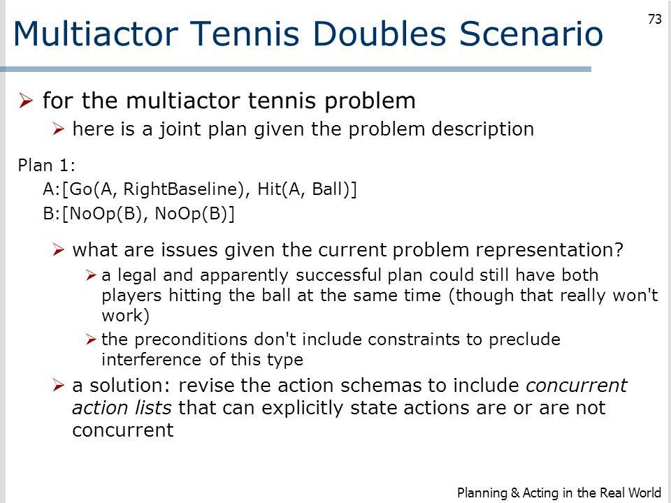 Multiactor Tennis Doubles Scenario