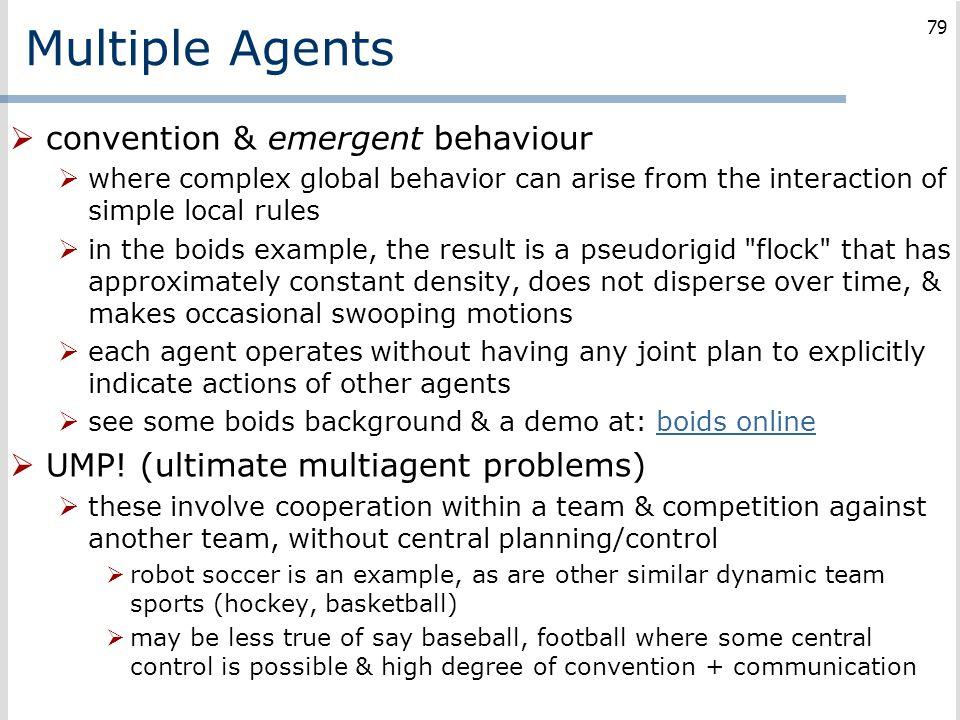 Multiple Agents convention & emergent behaviour