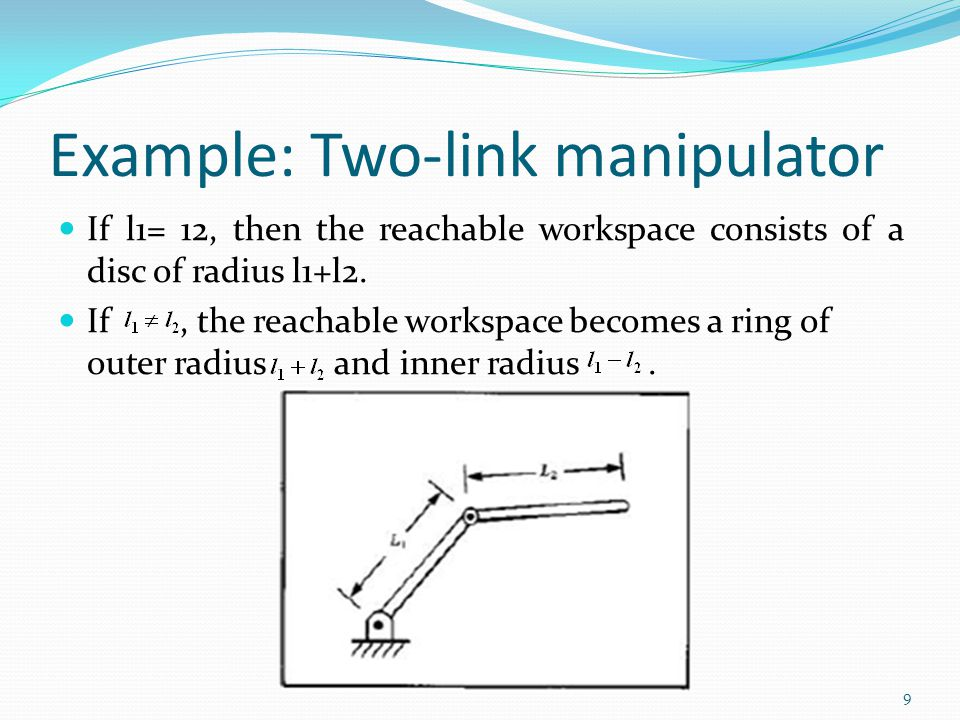 Example: Two-link manipulator