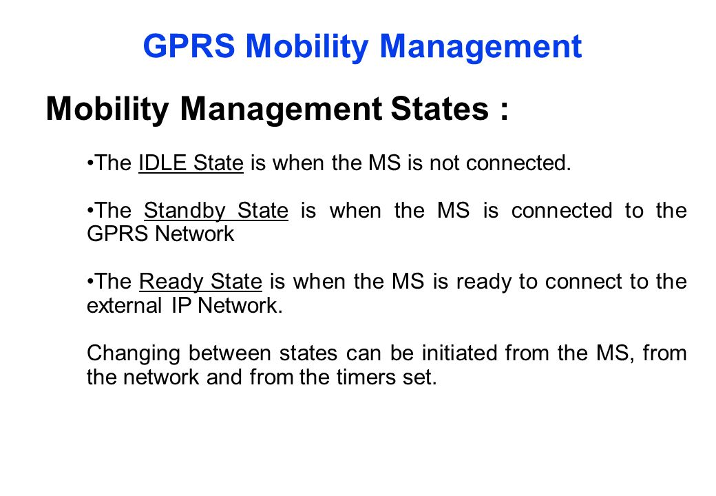 GPRS Mobility Management