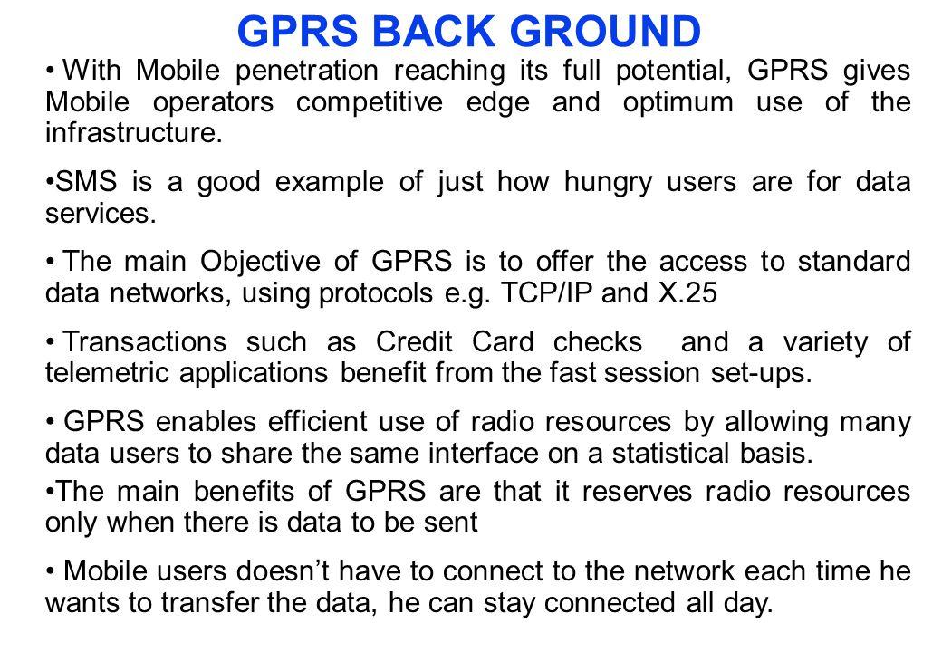 GPRS BACK GROUND
