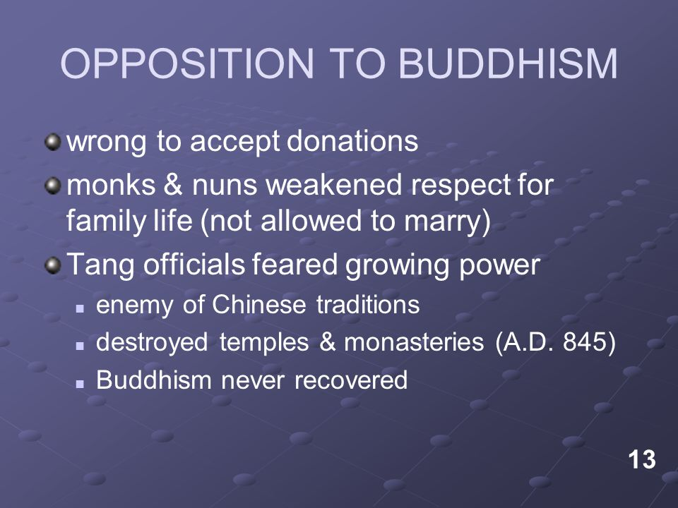 OPPOSITION TO BUDDHISM
