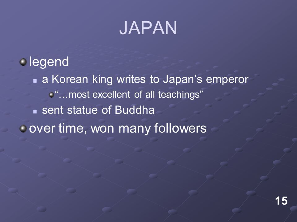 JAPAN legend over time, won many followers