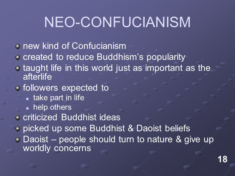 NEO-CONFUCIANISM new kind of Confucianism