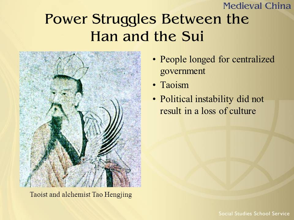 Power Struggles Between the Han and the Sui