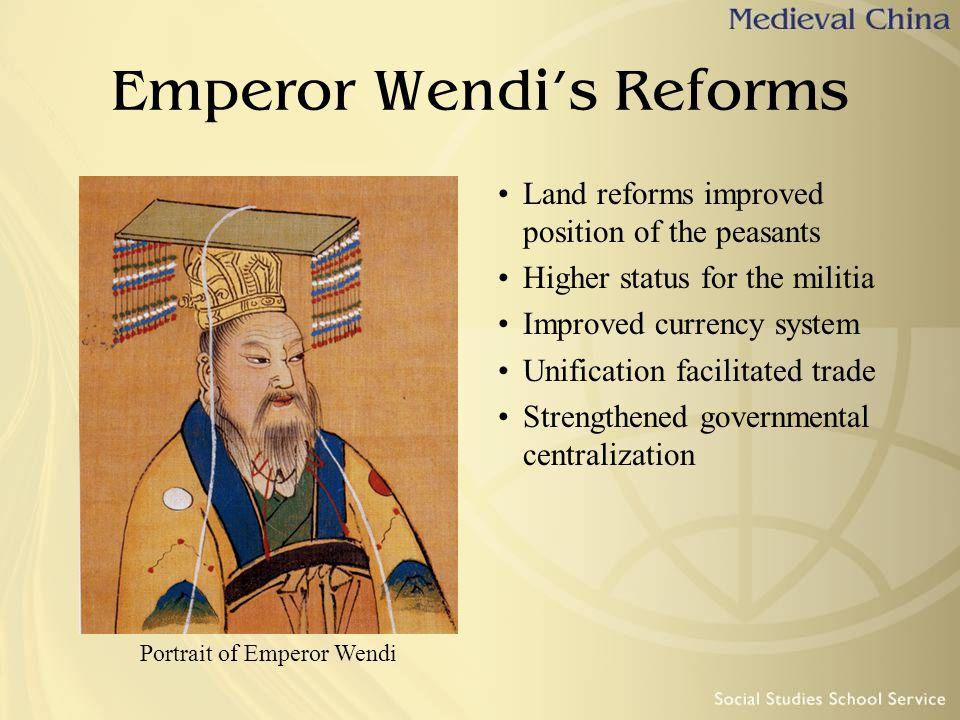 Emperor Wendi's Reforms