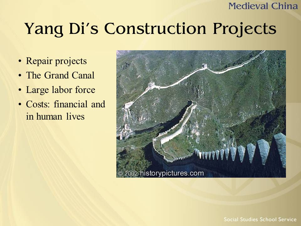 Yang Di's Construction Projects