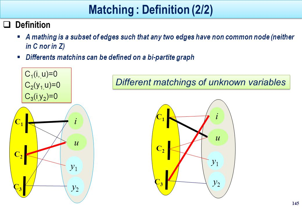 Matching : Definition (2/2)