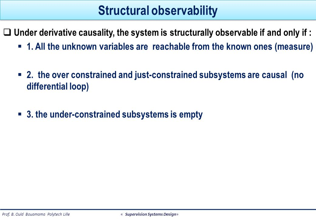 Structural observability