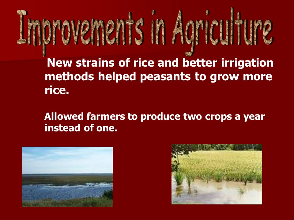 Improvements in Agriculture