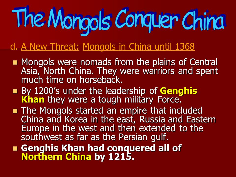 The Mongols Conquer China