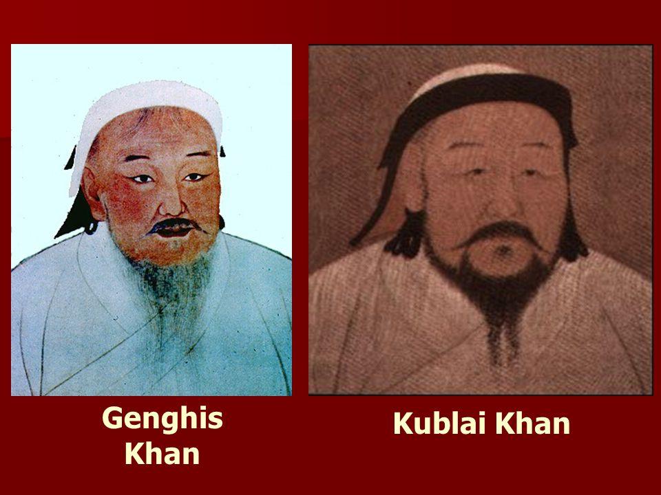 Genghis Khan Kublai Khan
