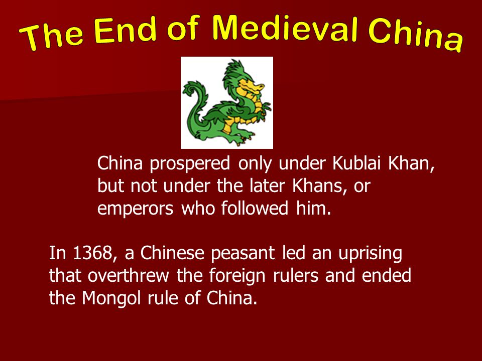 The End of Medieval China