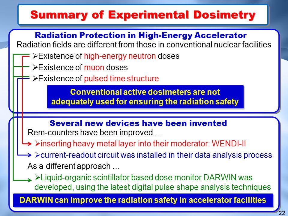 Summary of Experimental Dosimetry