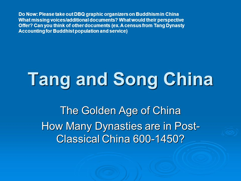 How Many Dynasties are in Post-Classical China 600-1450