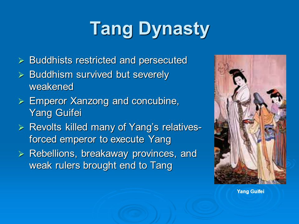 Tang Dynasty Buddhists restricted and persecuted