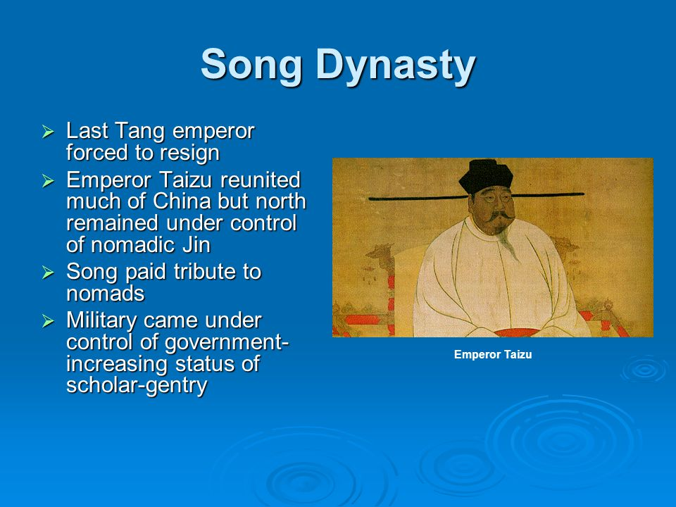 Song Dynasty Last Tang emperor forced to resign