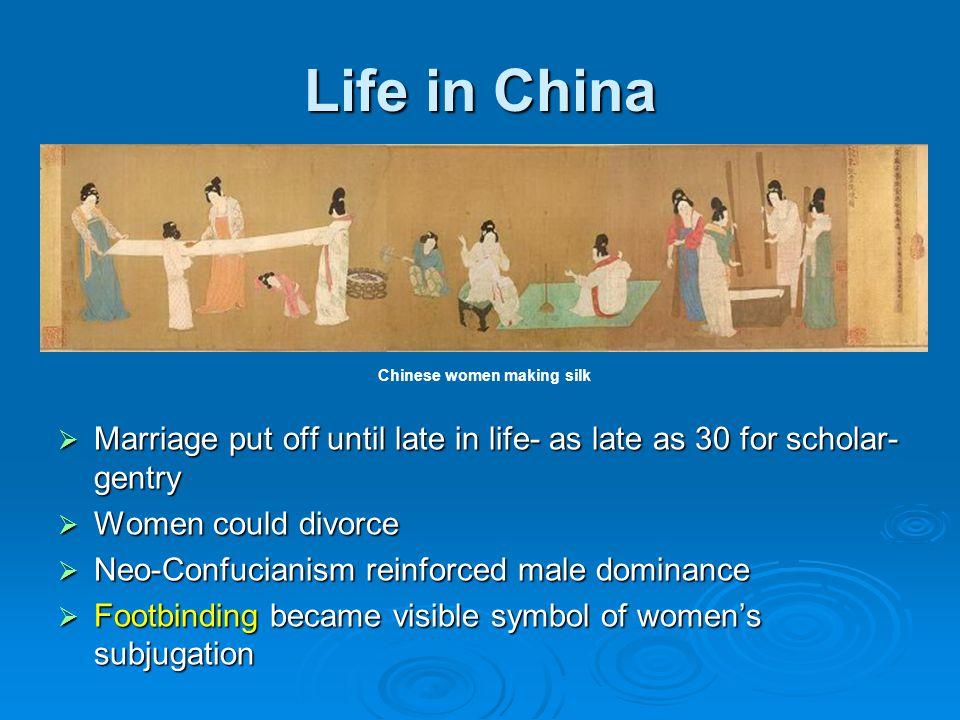 Chinese women making silk