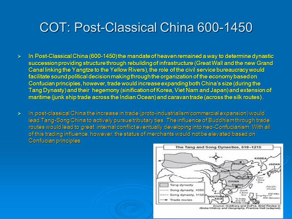 COT: Post-Classical China 600-1450