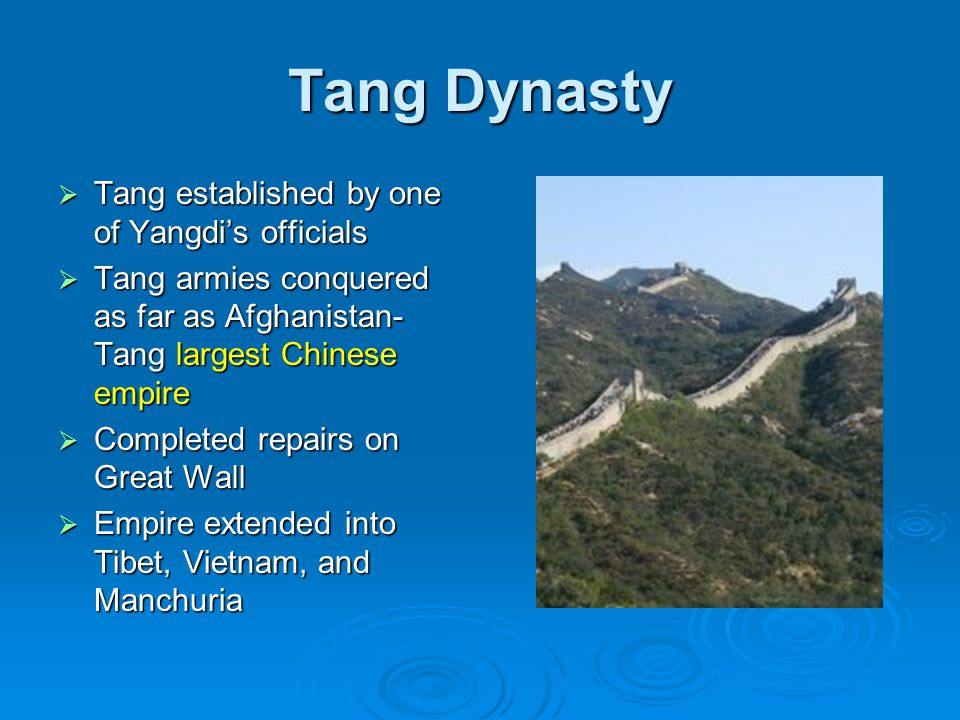 Tang Dynasty Tang established by one of Yangdi's officials