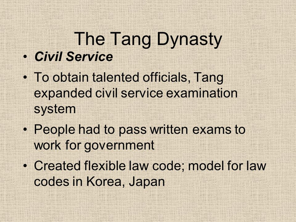 The Tang Dynasty Civil Service