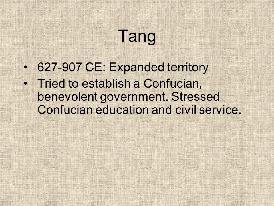 Tang 627-907 CE: Expanded territory