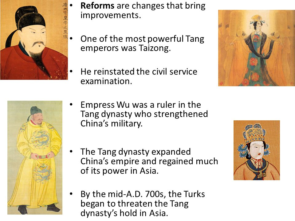 Reforms are changes that bring improvements.