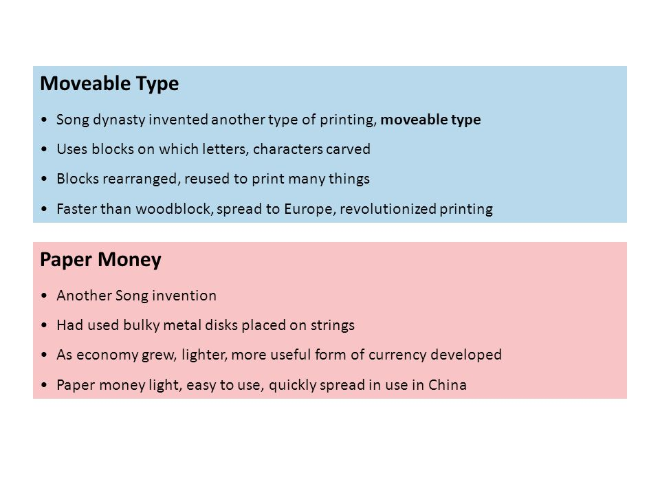 Moveable Type Paper Money