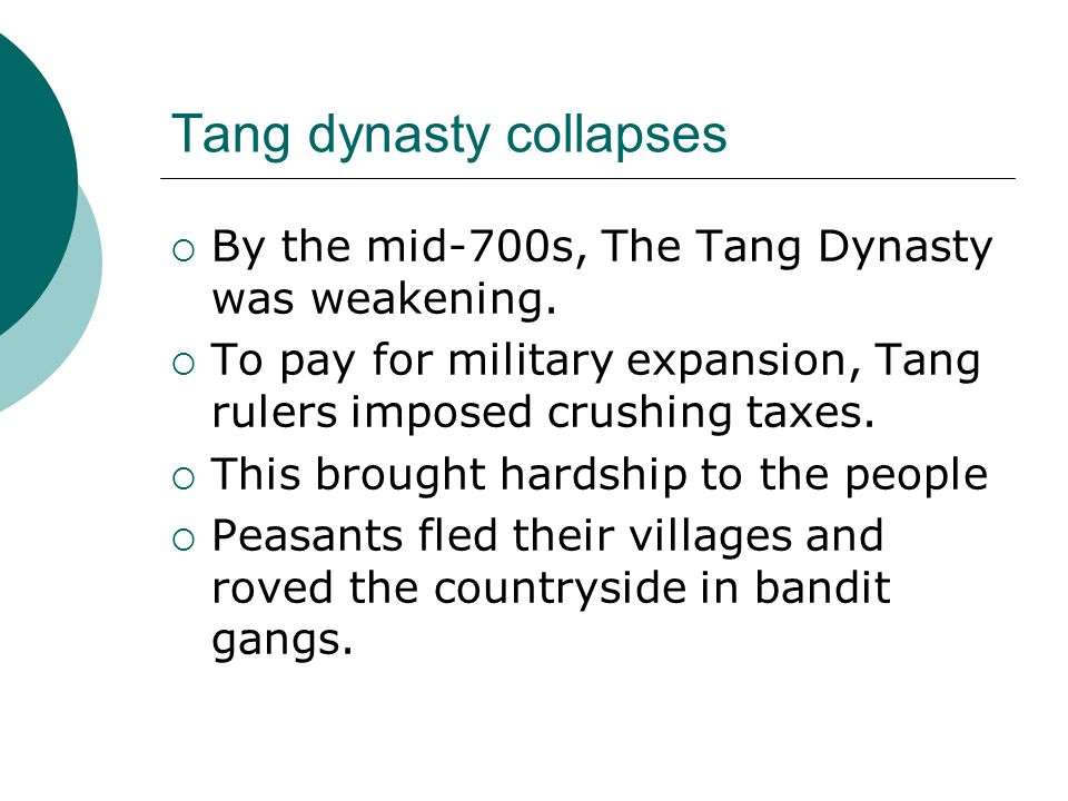 Tang dynasty collapses