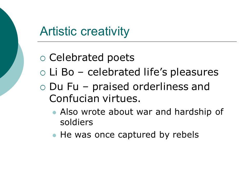 Artistic creativity Celebrated poets