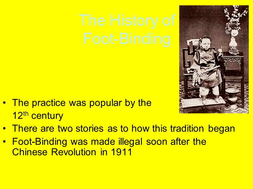 The History of Foot-Binding