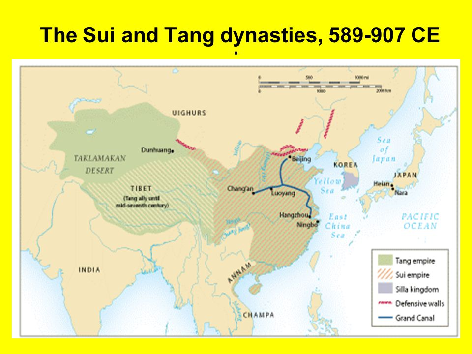 The Sui and Tang dynasties, 589-907 CE