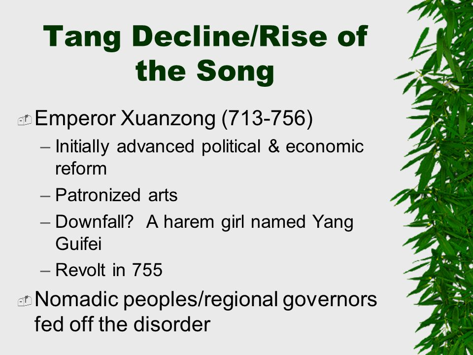 Tang Decline/Rise of the Song