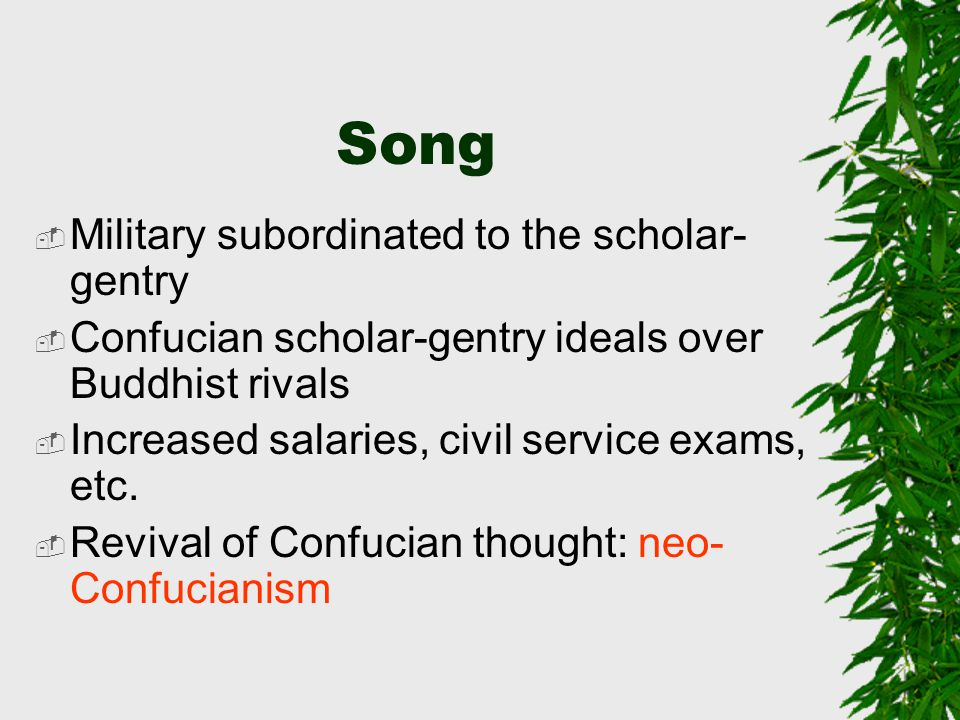Song Military subordinated to the scholar-gentry