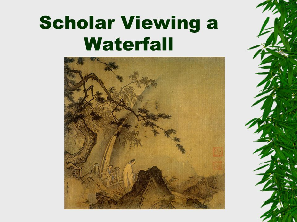Scholar Viewing a Waterfall