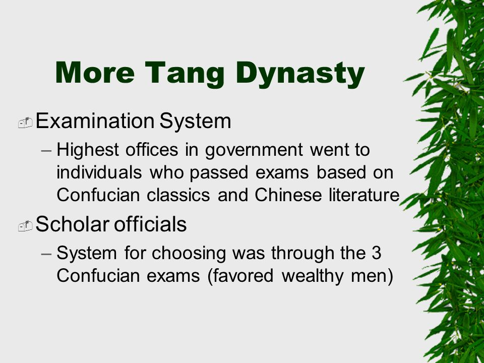 More Tang Dynasty Examination System Scholar officials