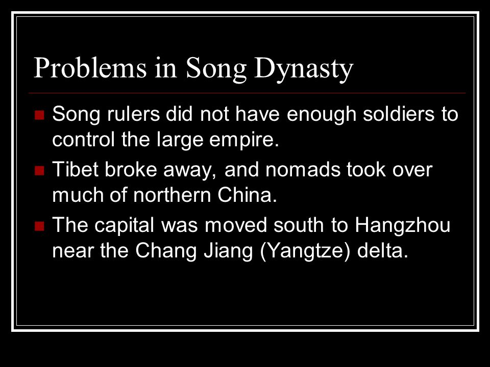 Problems in Song Dynasty