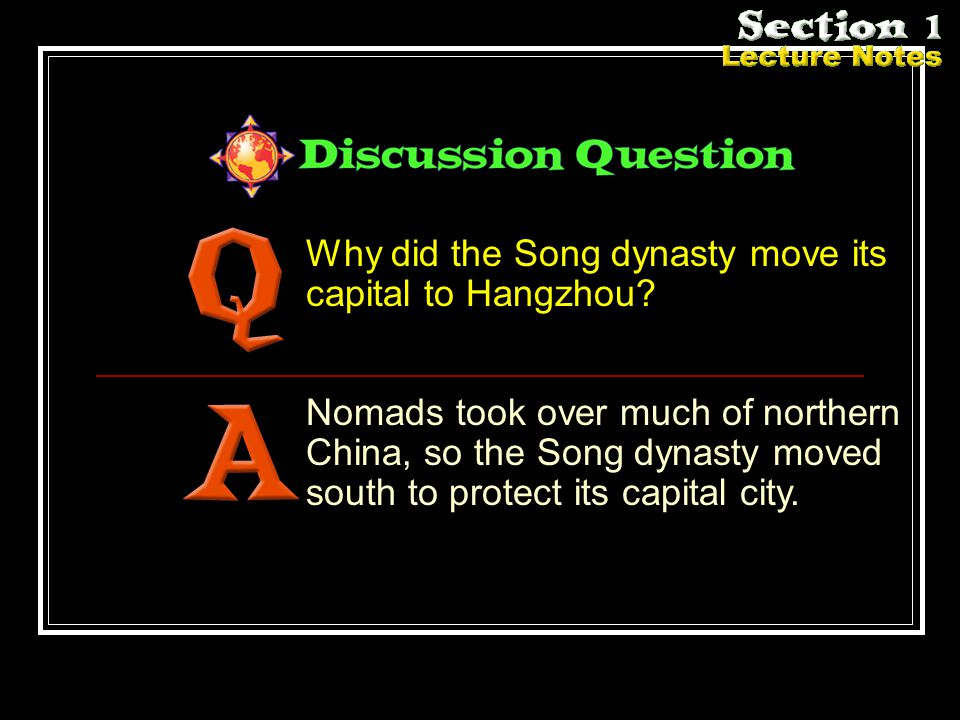 Why did the Song dynasty move its capital to Hangzhou