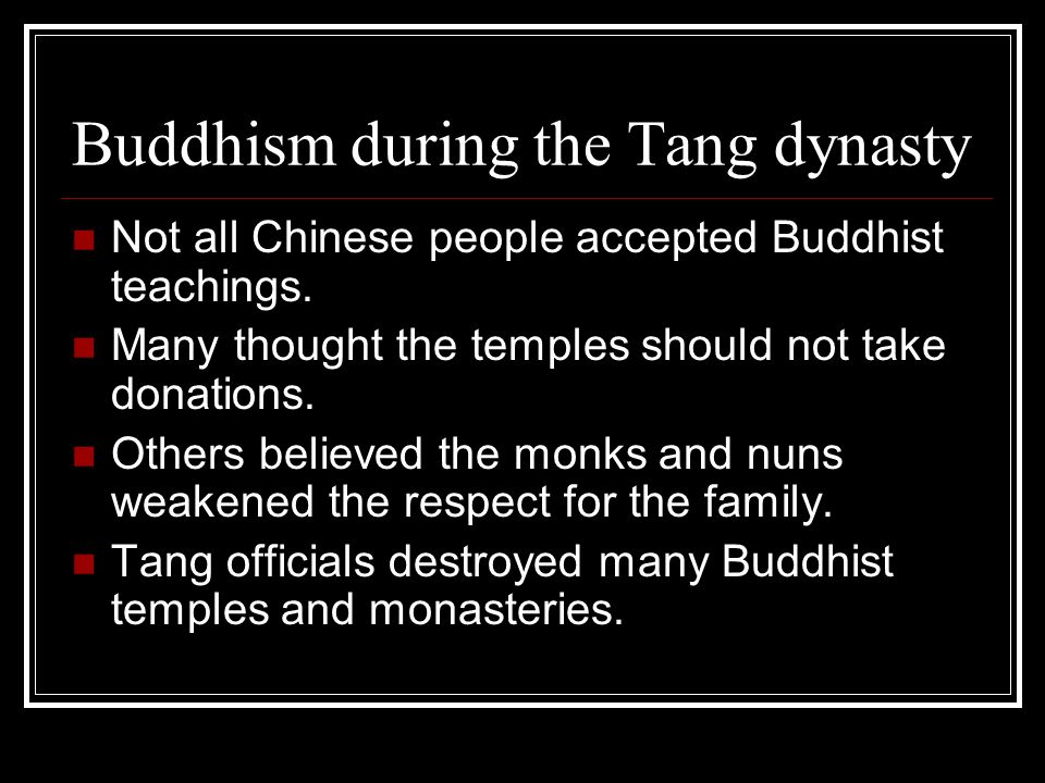 Buddhism during the Tang dynasty