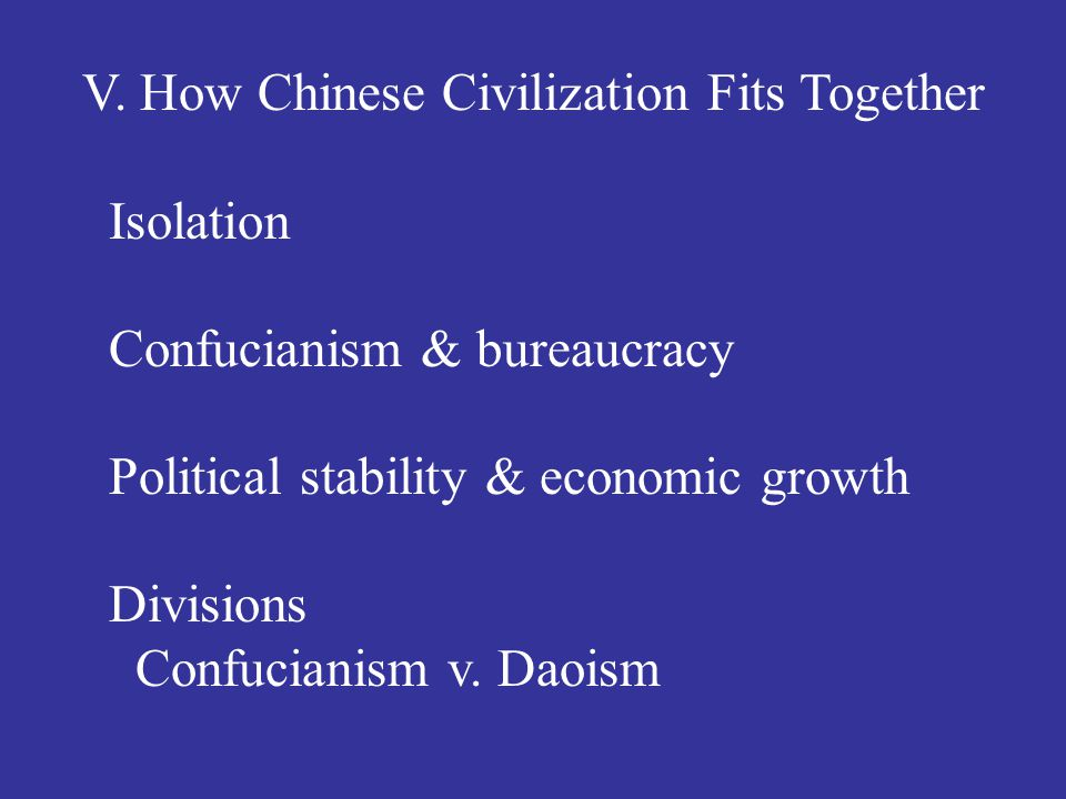 V. How Chinese Civilization Fits Together Isolation