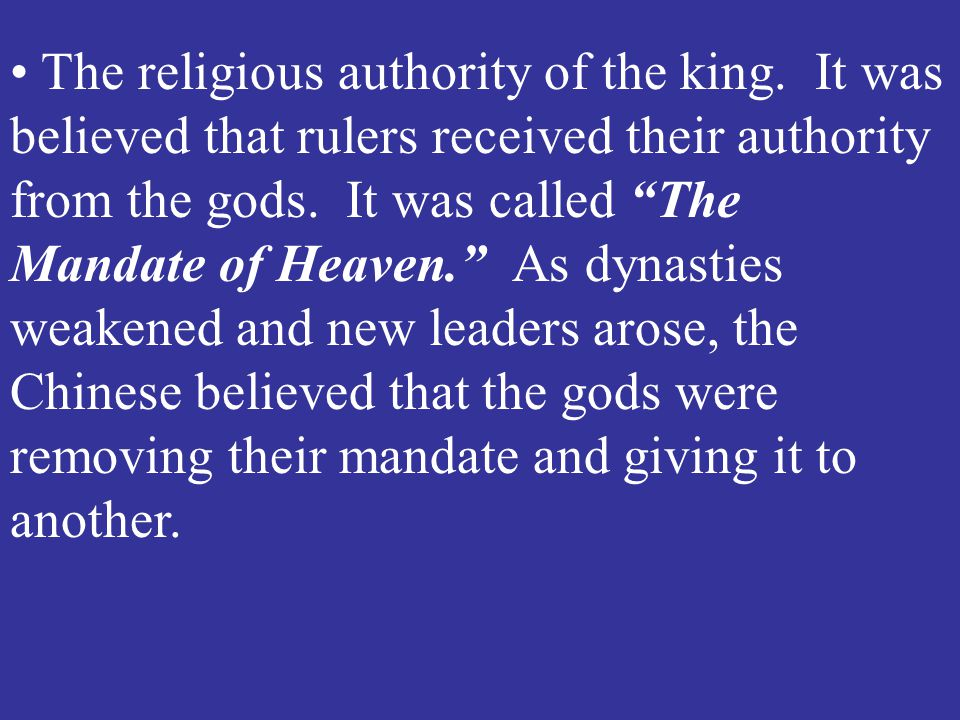 The religious authority of the king
