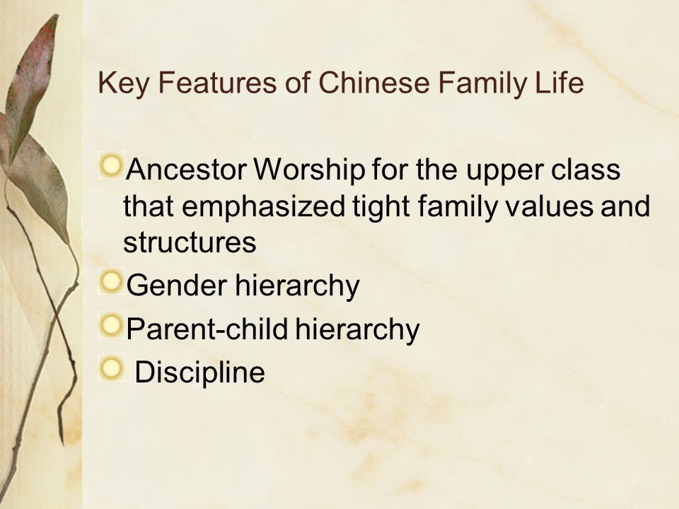 Key Features of Chinese Family Life