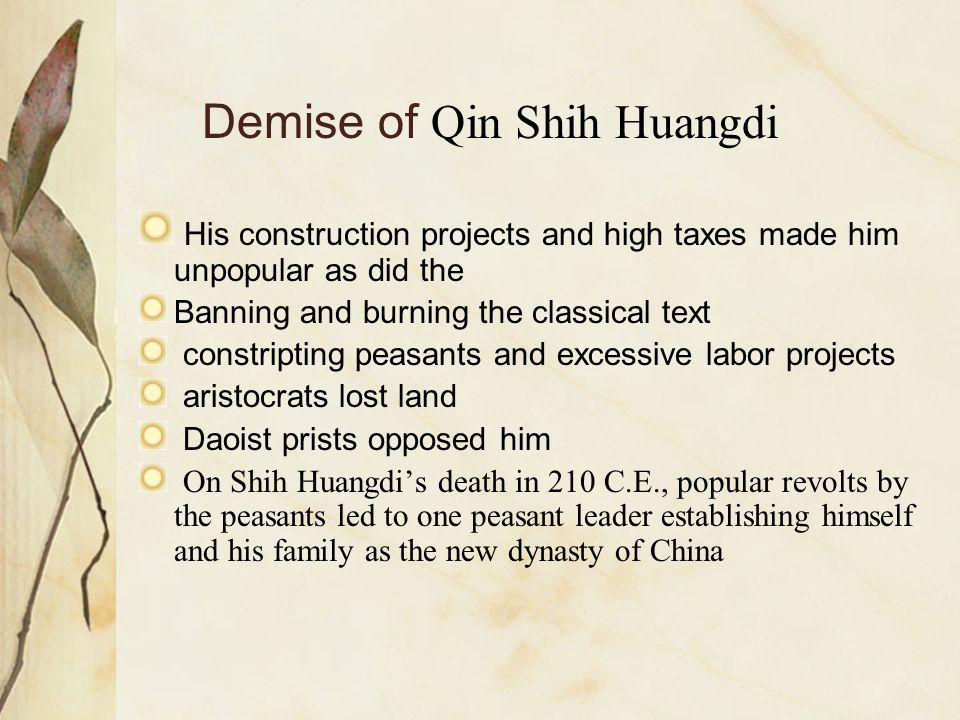 Demise of Qin Shih Huangdi