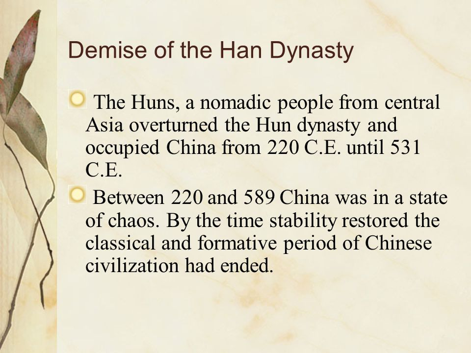 Demise of the Han Dynasty